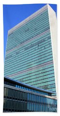 Beach Towel featuring the photograph United Nations 1 by Randall Weidner