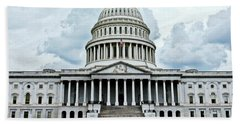 Beach Towel featuring the photograph United States Capitol by Suzanne Stout