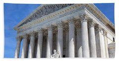 United States Supreme Court Building Beach Towel