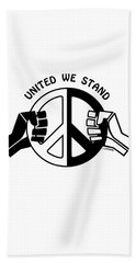 Beach Towel featuring the drawing United We Stand by Joseph J Stevens