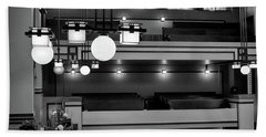 Unity Temple Interior Black And White Beach Sheet