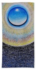 Universal Eye In Blue Beach Towel