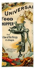 Universal Food Chopper 1897 Beach Towel