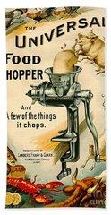 Universal Food Chopper 1897 Beach Sheet by Padre Art