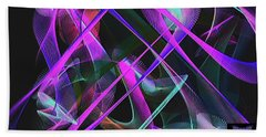 Beach Towel featuring the digital art Universe by Visual Artist Frank Bonilla