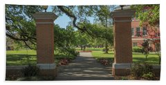 University And Johnston Entrance Beach Towel by Gregory Daley  PPSA