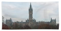 University Of Glasgow At Sunrise - Panorama Beach Towel