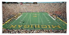 University Of Michigan Stadium, Ann Beach Towel by Panoramic Images