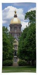 University Of Notre Dame Golden Dome Beach Sheet