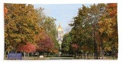 University Of Notre Dame Beach Towel