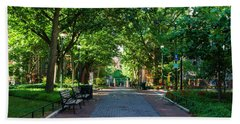 Beach Sheet featuring the photograph University Of Pennsylvania Campus - Philadelphia by Bill Cannon