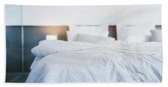 Unmade Bed Beach Sheet