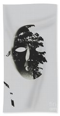 Unmasking In Silence Beach Towel