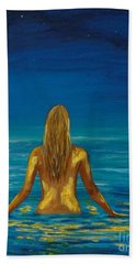 Beach Towel featuring the painting Unmasking Series 1 by Leslie Allen