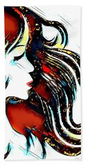 Beach Towel featuring the digital art Unrestricted-abstract by Pennie McCracken