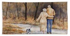 Unspoken Love Beach Towel by Sam Sidders
