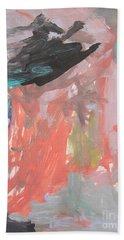 Untitled #11  Original Painting Beach Towel