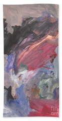 Untitled #6  Original Painting Beach Towel