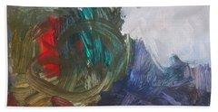 Untitled #60  Original Painting Beach Towel