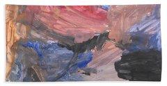 Untitled #7  Original Painting Beach Towel