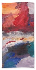 Untitled 98 Original Painting Beach Towel
