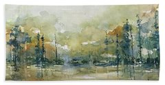 Untitled Cypress Beach Towel by Robin Miller-Bookhout
