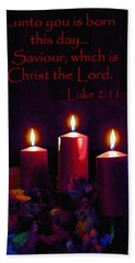 Unto You Is Born Beach Towel by Larry Bishop