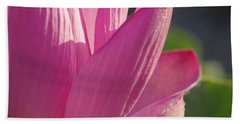 Up Close In Pink Beach Towel