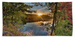Up Early For The Start Of Fall Color... Beach Towel