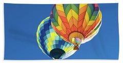 Up In A Hot Air Balloon Beach Sheet