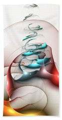 Beach Towel featuring the digital art Up In The Air  by Anastasiya Malakhova