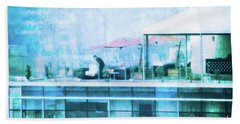 Beach Towel featuring the digital art Up On The Roof - II by Mary Machare
