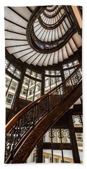 Up The Iconic Rookery Building Staircase Beach Sheet