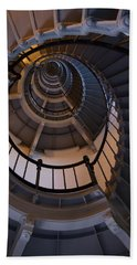 Up The Lighthouse Stairs  Beach Towel
