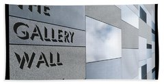 Beach Towel featuring the photograph Up The Wall-the Gallery Wall Logo by Wendy Wilton