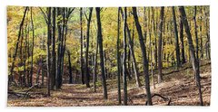Up The Woodland Trail Beach Towel
