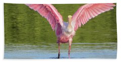 Up, Up And Away Sanibel Spoonbill Beach Towel