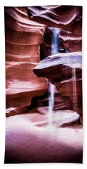 Beach Towel featuring the photograph upper antelope Canyon by Norman Hall