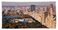 Upper East Side Central Park New York Beach Towel