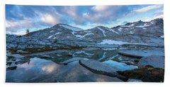 Upper Enchantments Calm Cloudscape Beach Sheet
