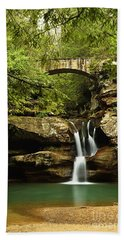 Upper Falls, Hocking Hills State Park Beach Towel