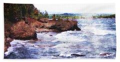 Upper Peninsula Landscape Beach Sheet by Phil Perkins
