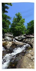 Upper Section Of Cunningham Falls Maryland Beach Towel