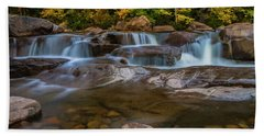 Upper Swift River Falls In White Mountains New Hampshire Beach Sheet