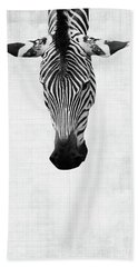 Upside Down Zebra Beach Towel