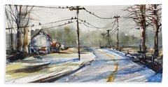 Upstate Ny Sunday Drive Beach Towel by Judith Levins