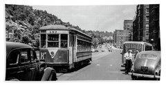 Uptown Trolley Near 193rd Street Beach Sheet