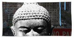 Urban Buddha 4- Art By Linda Woods Beach Towel