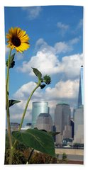 Beach Towel featuring the photograph Urban Contrast by Michael Dorn