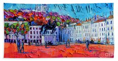 Urban Impression - Bellecour Square In Lyon France Beach Towel